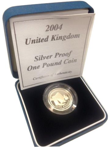 2004 Silver Proof One Pound Coin